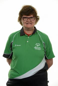 15 November 2014; Margaret Carr, Golf, Sligo Fairways Special Olympics Club. Special Olympics Ireland Squad and Portraits, Louis Fitzgerald Hotel, Dublin. Picture credit: Piaras O Midheach / SPORTSFILE *** NO REPRODUCTION FEE ***
