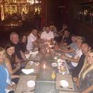 Steven Gerrard and Niall Horan join the Keanes for Robbie's 35th birthday. Picture: Twitter.com/@ClaudineKeane1