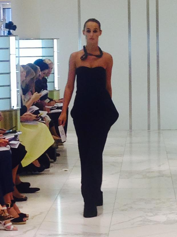 Thalia Heffernan walking in the Brown Thomas fashion show