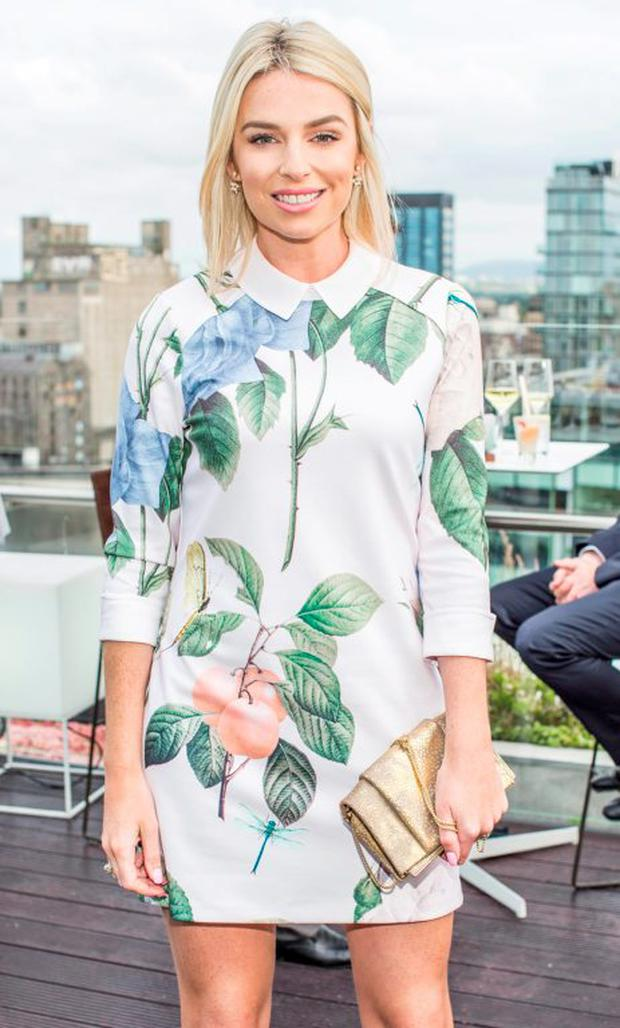 Pippa O'Connor pictured at The Marker Hotel's summer garden party on the rooftop. Photo: Anthony Woods
