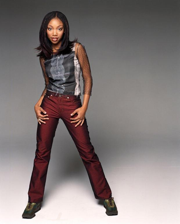 Heyday: Brandy Norwood as 'Moesha' which ran for six seasons in the 1990s