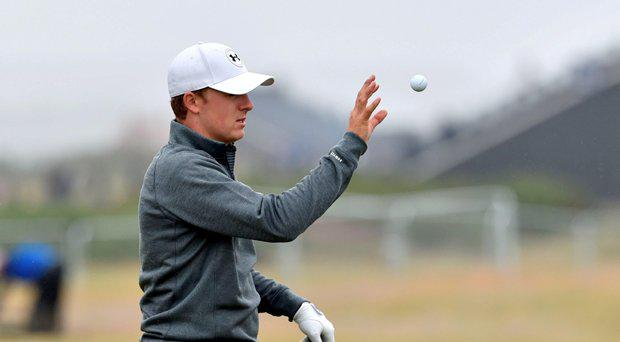 USA's Jordan Spieth during a practice day ahead of The Open Championship 2015 at St Andrews, Fife