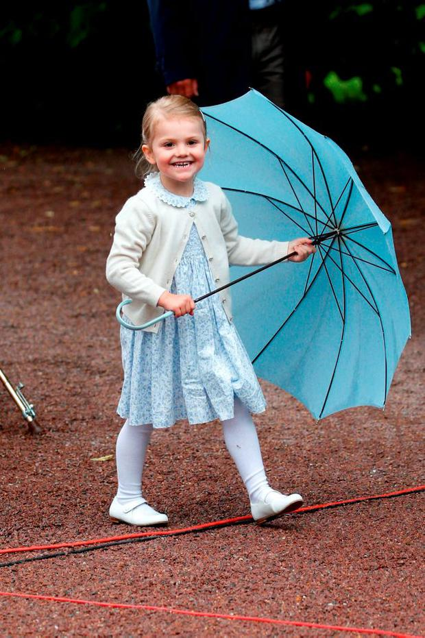 Princess Estelle of Sweden attends the 38th Birthday celebrations of Crown Princess Victoria of Sweden on July 14, 2015 in Oland, Sweden. (Photo by Luca Teuchmann/Getty Images)