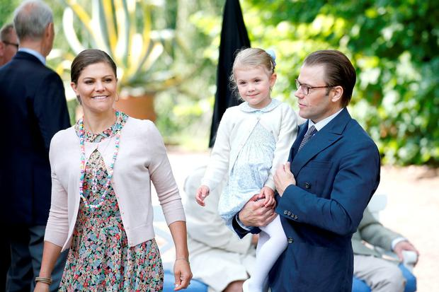 Princess Estelle of Sweden; Crown Princess Victoria of Sweden and Prince Daniel of Sweden attend the 38th Birthday celebrations of Crown Princess Victoria of Sweden on July 14, 2015 in Oland, Sweden. (Photo by Luca Teuchmann/Getty Images)