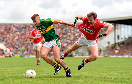 James O'Donoghue and James Loughrey will resume battle when Kerry play Cork again in Killarney on Sunday