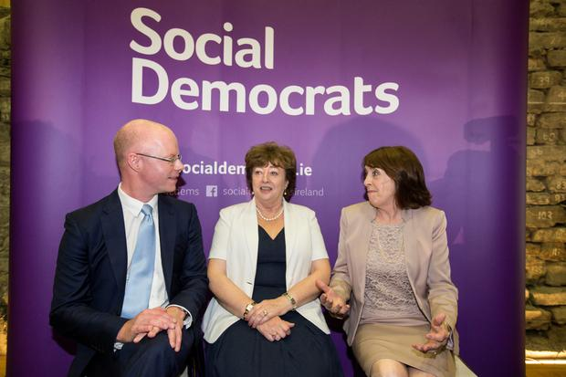 TDs Róisín Shortall, Catherine Murphy, and Stephen Donnelly the newly formed Social Democrats party