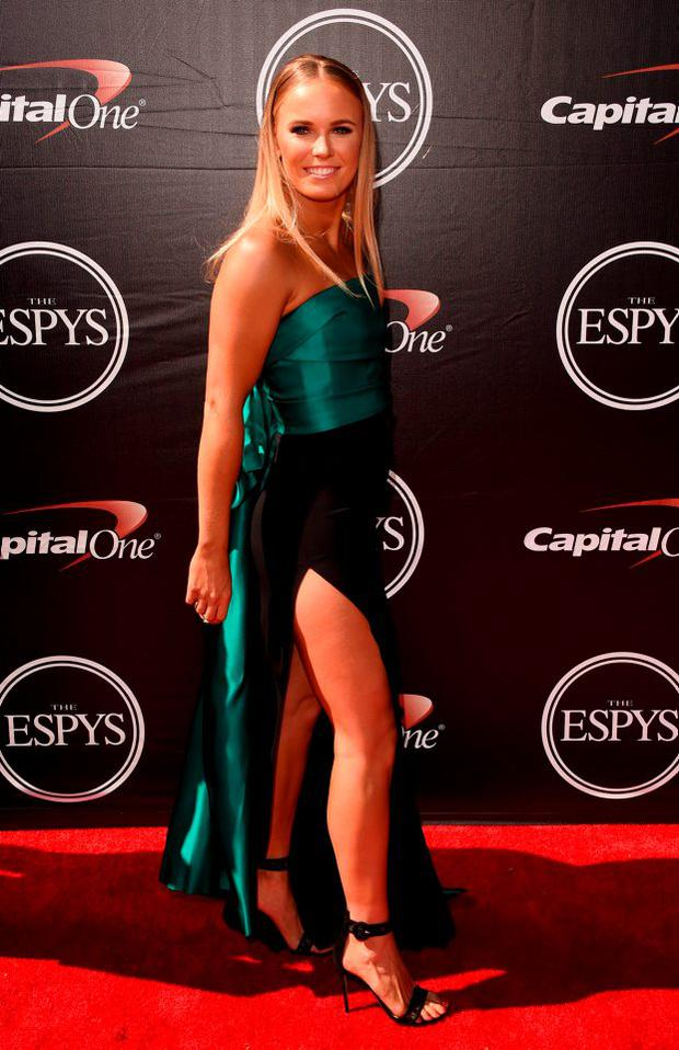 Tennis player Caroline Wozniacki attends The 2015 ESPYS at Microsoft Theater on July 15, 2015 in Los Angeles, California. (Photo by Jason Merritt/Getty Images)