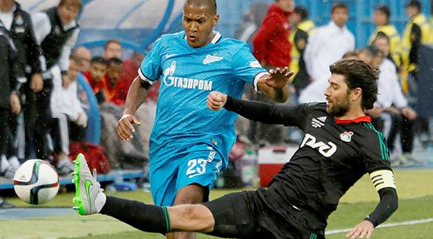 Hot shot: Salomon Rondon (in blue) is a target for Liverpool Photo: GETTY IMAGES