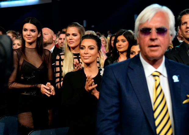 (L-R) Model Kendall Jenner with TV Personalities Khloe Kardashian, Kim Kardashian and Kylie Jenner at The 2015 ESPYS at Microsoft Theater on July 15, 2015 in Los Angeles, California. (Photo by Kevin Mazur/WireImage)