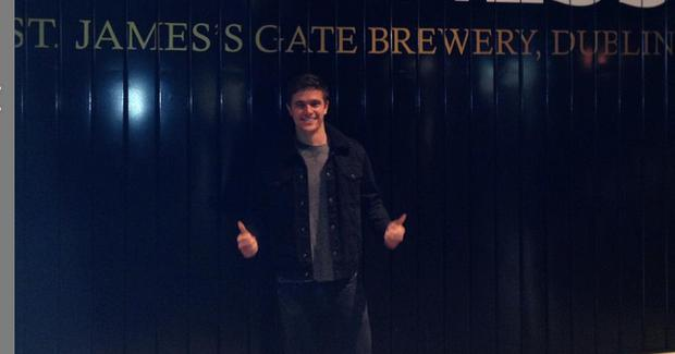Nick Westaway at the Guinness Storehouse. Picture: Instagram
