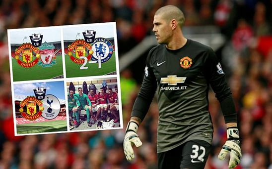 Victor Valdes is not a happy man