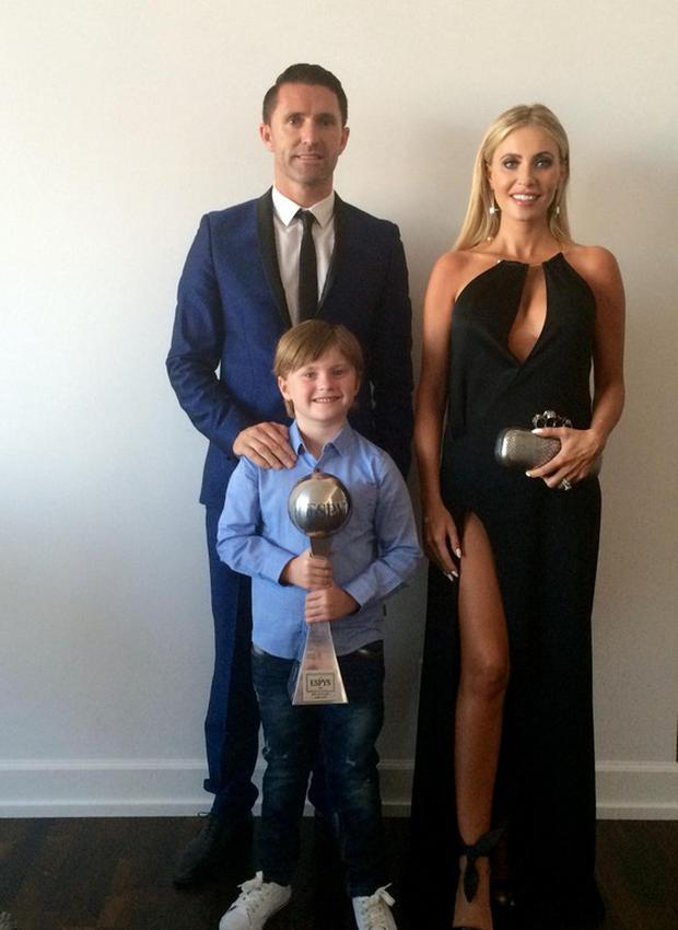 Claudine, Robbie and Robert Keane before the ESPYs. Picture: Twitter