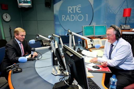 Enda Kenny speaks with Sean O'Rourke (Photo: RTE Radio One)