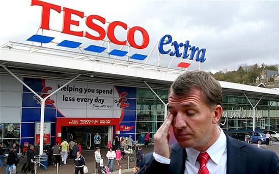 Tesco stick the boot in to Brendan Rodgers' side