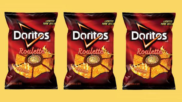 The packets of crisps contain normal Doritos but a handful are coated in a mixture containing a super spicy chilli powder 20 times hotter than an jalapeno.