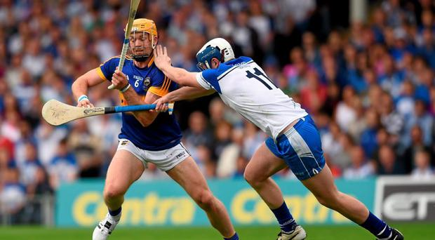 As Tipperary sweeper, Padraic Maher saw plenty of ball during their victory in which they comfortably shut out Waterford's goal-scoring threat