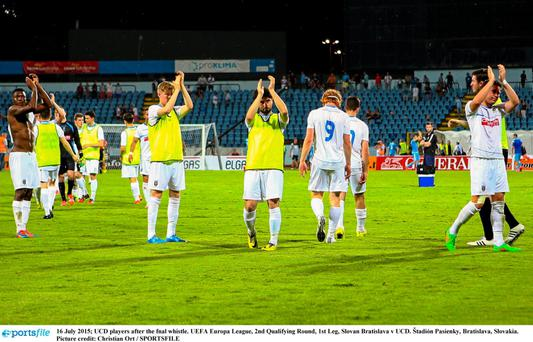 UCD players after the final whistle