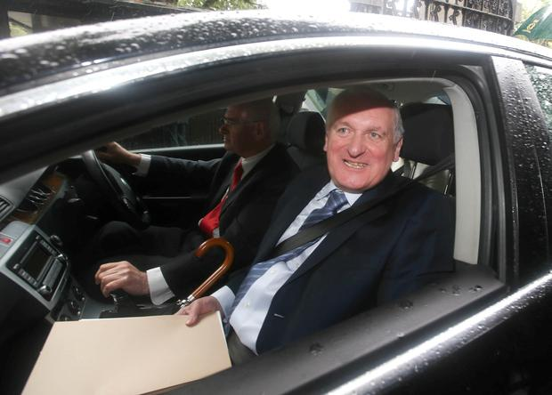 Bertie Ahern, arrives to attend the banking enquiry. Picture credit; Damien Eagers / Irish Independent 15/7/2015