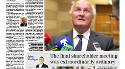 The front page of this morning's Irish Independent business section.