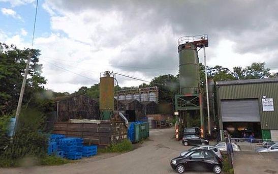 The explosion is reported at Wood Flour Mills in Bosley, in Cheshire