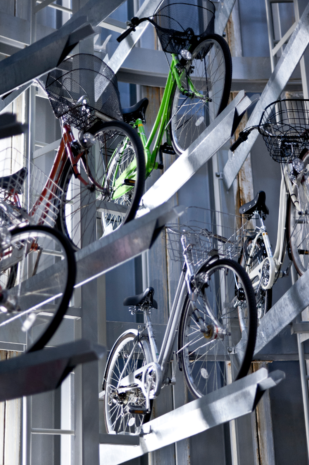 Underground bicycle parking in Japan. Photo: Getty