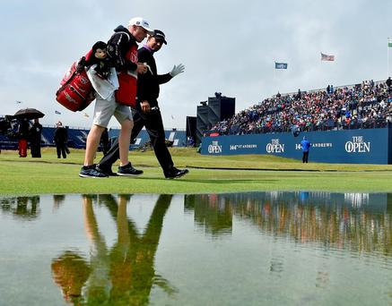 Ireland's Padraig Harrington walks off the second tee during day two of The Open Championship at St Andrews