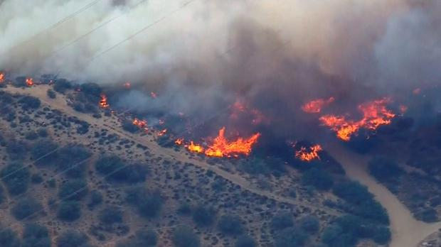 The brush fires continue to burn in California Credit: Reuters/NBCLA.com