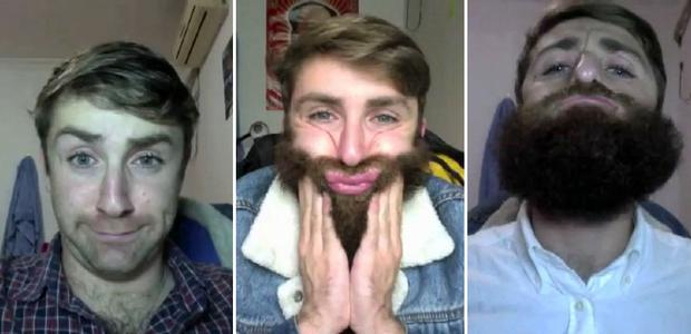 Tom Brada took a picture every day documenting his facial hair growth. Photo: Press Association