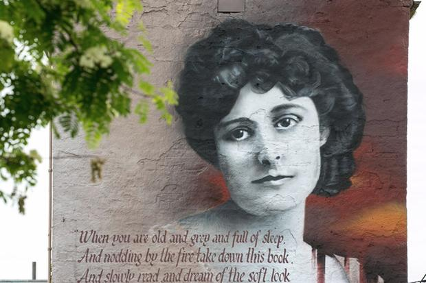 A painting of Maud Gonne The 'Tread Softly' Festival of Yeats in Sligo