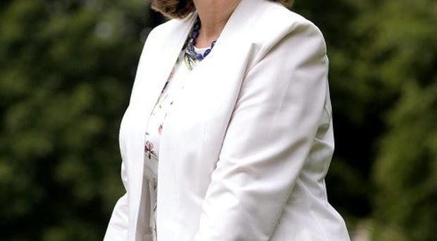 An Tánaiste Joan Burton turned the sod for the new National Indoor Arena at the National Sports Campus in Abbotstown.