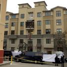 TRAGEDY: The apartment block in Berkeley