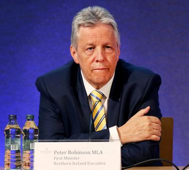 GUEST: Northern Ireland's First Minister Peter Robinson was in Dublin for summit