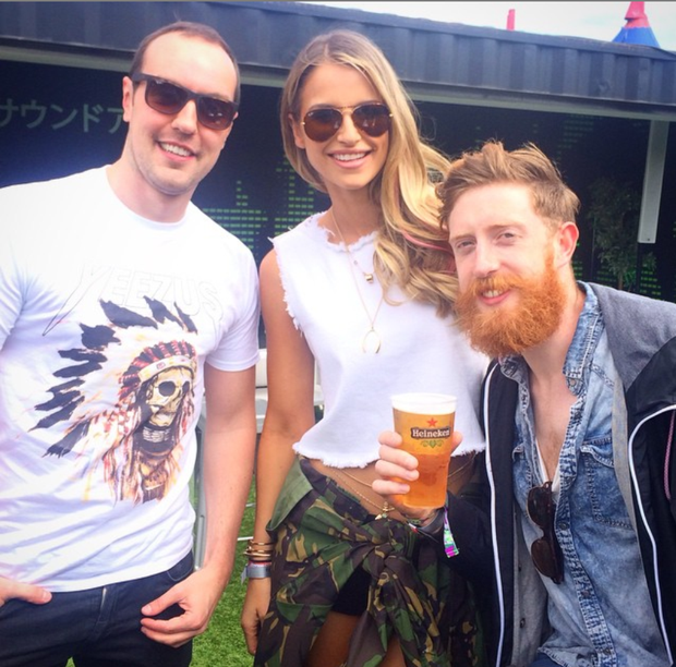 Vogue Williams at Longitude. Picture: Instagram