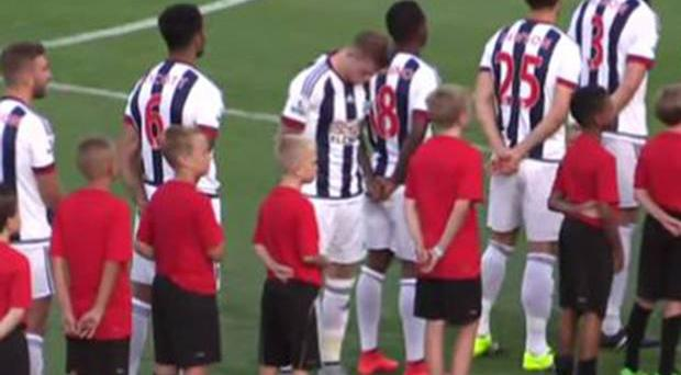The Republic of Ireland international James McClean during the national anthem