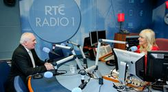 Former Taoseach Bertie Ahern answers questions on Miriam O'Callaghan's 'Sunday with Miriam' show. Photo: Maxwell's
