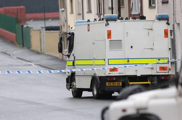 PSNI officers said they were called to the area hoax device before a second bomb went off