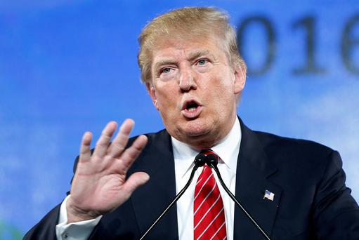 FILE - In this July 11, 2015, file photo, Republican presidential candidate Donald Trump speaks at FreedomFest in Las Vegas. (AP Photo/John Locher, File)