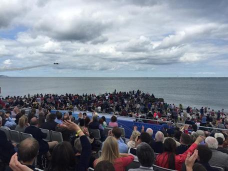 Excited crowds at the Bray Air Display Credit: Bray Summerfest