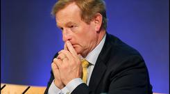 MISFIRING: Enda Kenny tried to talk down the clock, attempting to smother any annoying questions with liberal use of the 'competitiveness' word