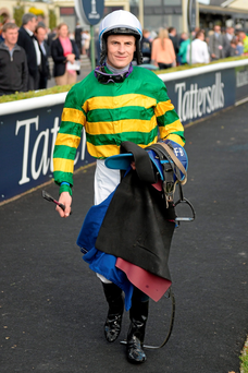 Jockey Fran Berry after competing in the Dublin Coach To The Curragh Races European Breeders Fund Maiden on Heard A Whisper