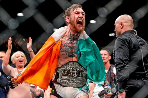 Conor McGregor UFC featherweight champion