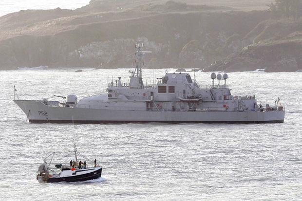 LÉ NIAMH as it left for its mission in the Mediterranean