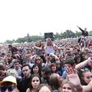 The crowd at Longitude music festival