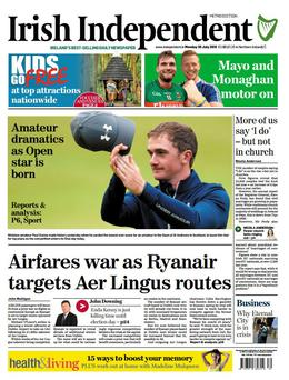 This morning's Irish Independent