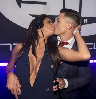 Love could be in the air for controversial Big Brother stars Marc O'Neill & Helen Wood who shared a kiss in the DJ box at SIN nightclub in Temple Bar