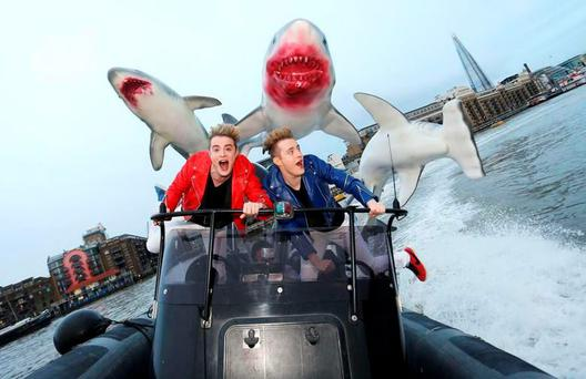 Jedward in Sharknado 3 - #Jednado