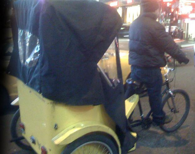 Rickshaw drivers in Dublin don't need a licence