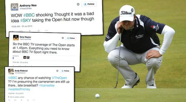 Angry nerds: Golf fans are not best pleased about the lack of TV coverage for The Open Photo: GETTY IMAGES