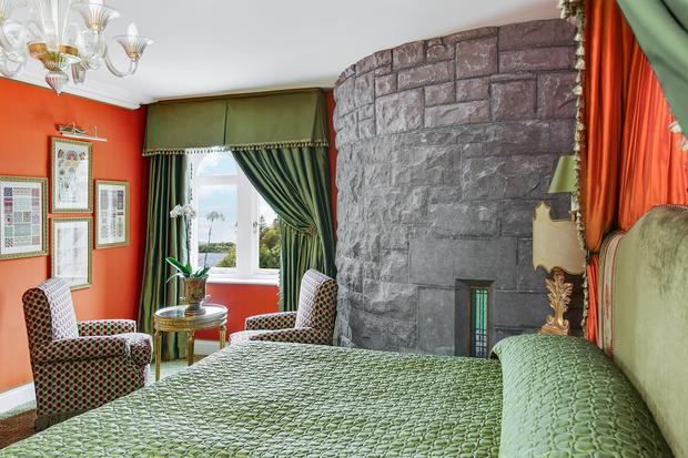 One of the newly refurbished rooms at Ashford Castle, recently voted the world's No.3 hotel