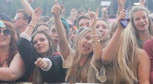 19/07/15Fans pictured at Longitude music festival,Marley Park ,Co Dublin this weekend..Pic Stephen Collins/Collins Photos